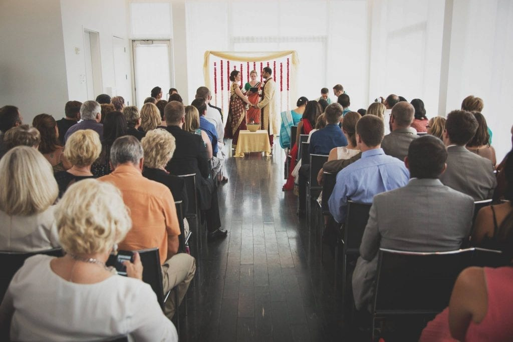 Tara and Raj's wedding ceremony