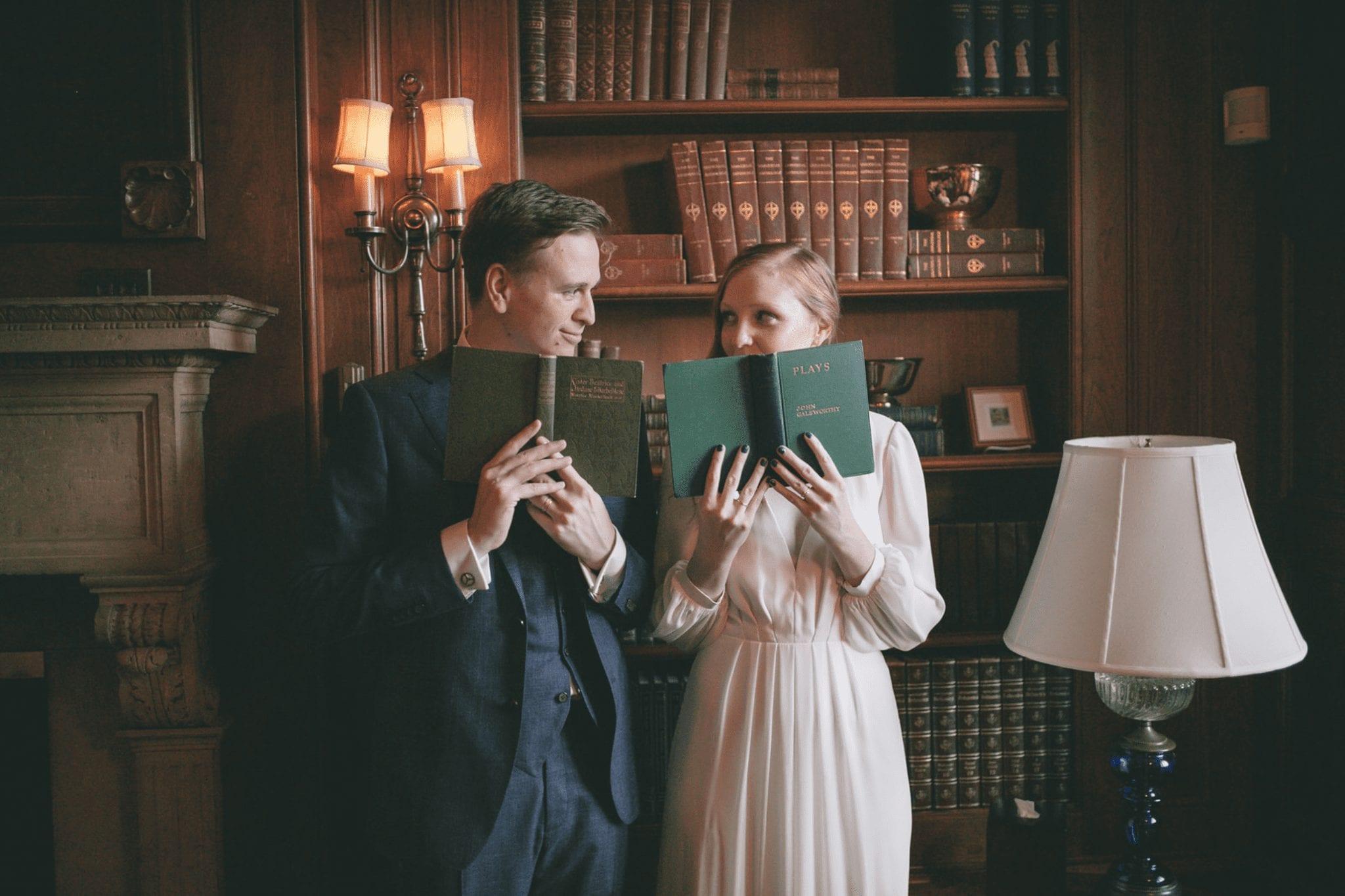 Library Wedding Photo by Joy Studios